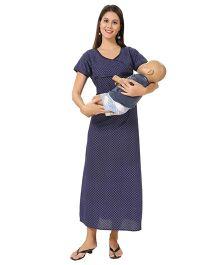 Eazy Maternity Feeding Nighty Blue - Medium