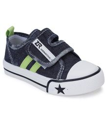 Cute Walk Casual Shoes With Velcro Closure Star Design - Black
