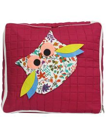 Nappy Monster Owl Quilted Storage Bag - Red
