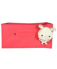 Nappy Monster Front Soft Toy Storage Pouch - Pink