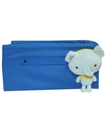 Nappy Monster Front Elephant Soft Toy Storage Pouch - Blue