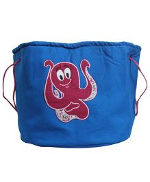 Nappy Monster Octopus Canvas Toy Bin - Blue