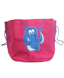 Nappy Monster Octopus Canvas Toy Bin - Pink