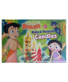 Chhota Bheem Make and Decorate Candles - Multicolor