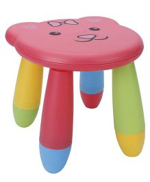 Baby Stool Face Print - Pink