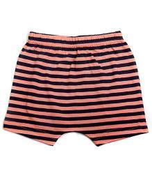 bio kid Striped Elastic Waist Shorts - Orange