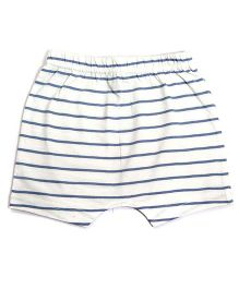 bio kid Striped Elastic Waist Shorts - White