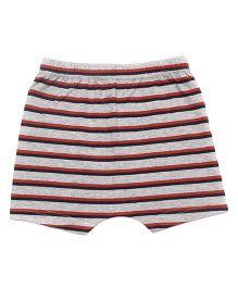 bio kid Striped Elastic Waist Shorts - Red & Grey