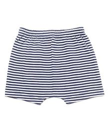 bio kid Striped Elastic Waist Shorts - Blue