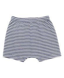 bio kid Striped Elastic Waist Shorts - Blue