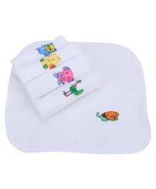 Tinycare Face Napkins Set Of 5 - White