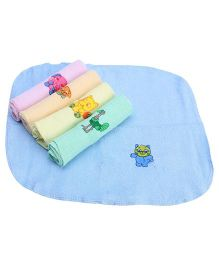 Tinycare Face Napkins Set Of 5 - Multi Color