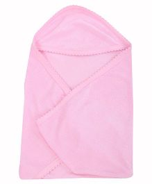 Tinycare Plain Hooded Towel - Pink