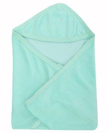 Tinycare Plain Hooded Towel - Green