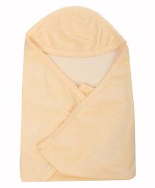 Tinycare Plain Hooded Towel - Cream