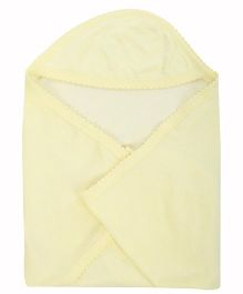 Tinycare Plain Hooded Towel - Light Yellow