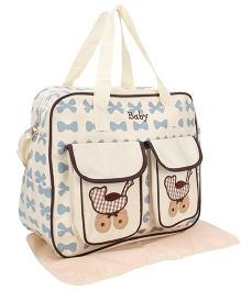 Mother Bag With Changing Mat Baby Pram Print - Cream
