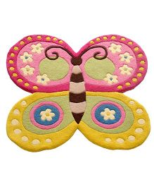 Little Looms Butterfly Cut Out Rug - Multicolour