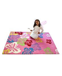 Little Looms Fluttering Butterfly Rug - Pink