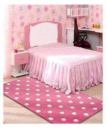 Little Looms Polka Dot Rug - Pink