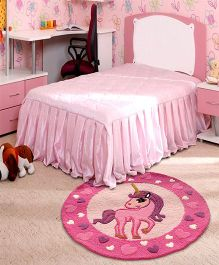 Little Looms Unicorn Rug - Pink