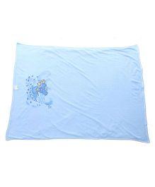 Tinycare Baby Towel Teddy Print - Sky Blue
