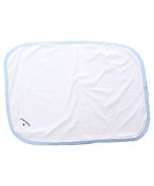 Tinycare Plain Baby Towel - White and Blue