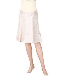 Uzazi Maternity Skirt With Roll Over Panel - Beige
