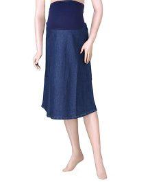 Uzazi Maternity Denim Skirt - Blue