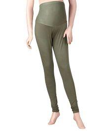 Uzazi Full length Maternity Leggings Green - Small