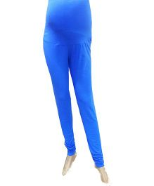 Uzazi Full length Maternity Leggings Blue - Small