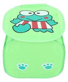 Foldable Laundry Box Frog Print - Green