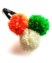 Soulfulsaai Tricolour Pompom Large Tic Tac - Multi Color