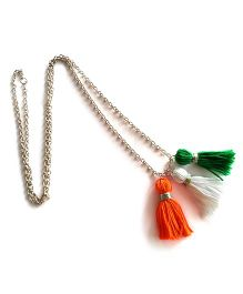 Soulfulsaai Tricolour Tassel Necklace - Multi Color