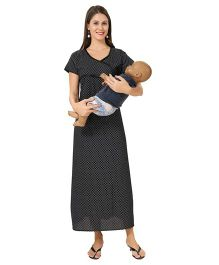 Eazy Maternity Feeding Nighty Black - Extra Large