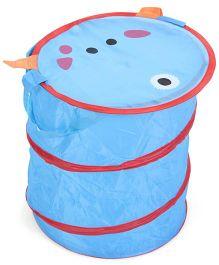 Animal Face Print Storage Bag - Blue