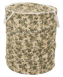Floral Print Storage Bag - Green