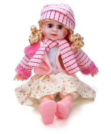 Smiles Creation Doll In Winter Dress - Pink