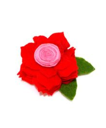 Aayera's Nest Rose Hair Clip - Red