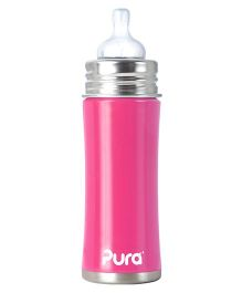 Pura Bottle With Natural Vent Nipple - Pink