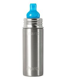 Pura Insulated Bottle With Spout - Silver