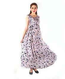 Momzjoy Sleeveless Maternity Flair Dress - Cameo Pink