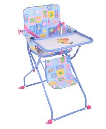 Mothertouch High Chair Multi Print Sky Blue - HCKB