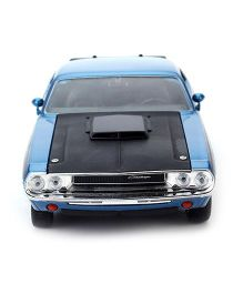 Welly 1970 Dodge Challenger Model Car Toy - Blue
