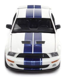 Welly 2007 Shelby Cobra GT 500 Model Car Toy - White And Blue