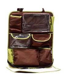 My Milestones Car Seat Organizer Sling - Brown