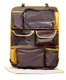 My Milestones Car Seat Organizer Sling - Chocolate