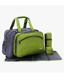 My Milestones Diaper Bag Set - Grey Green