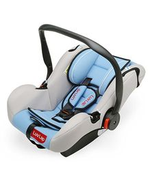 LuvLap Infant Baby Car Seat Cum Carry Cot With Rocker And Canopy - Light Blue