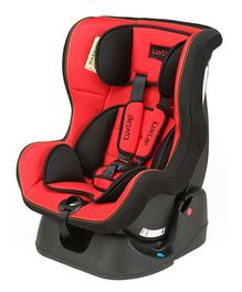 LuvLap Sports Convertible Baby Car Seat - Red & Black